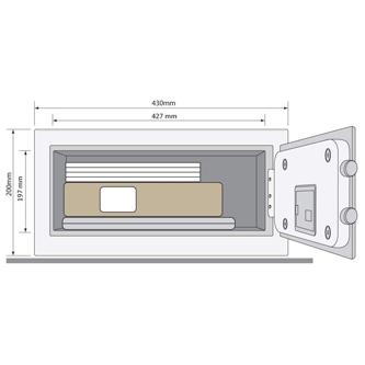 Dimensiones cajas fuertes para hotel